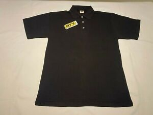 New Mens RTY Heavy Poly/cotton Polo Shirt. Black size 9XL. 78 chest. J5-60
