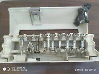 AAA VINTAGE BERNINA SEWING MACHINE PRESSER FEET ACCESSORIES BOX SET W PIECES
