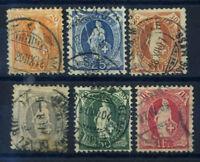 Schweiz 1907 Gestempelt 100% Stehende Helvetia
