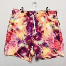 PacSun Tie Dye Swim Trunks (Men's Size M) Beach Bathing Suit Shorts Lined Pink