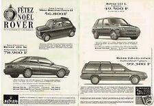 Publicité Advertising 1993 (2 pages) Rover Mini estate