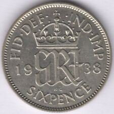 More details for 1938 george vi silver sixpence   british coins   pennies2pounds