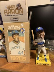 Milwaukee Brewers 2010 40th Anniversary Collectible Hank Aaron Bobblehead