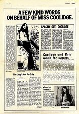(Sds)24/3/1973Pg27 Rita Coolidge Artice & Pictures