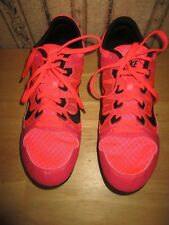 EUC women's neon orange/pink NIKE RIVAL MD track shoes - NO SPIKES / size 11