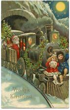 PERE NOËL .CHRISTMAS   .TRAIN.  CHEMIN DE FER . ENFANTS . CHILDREN . NOËL