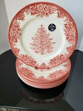 Royal Stafford Christams Tree Red Dinner Plate Set Of 8