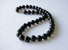 Black Onyx Necklace 10mm Black Onyx Beads necklace Various Lengths Black necklac
