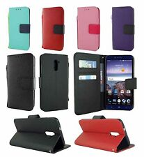 For ZTE Grand X Max 2 Z988 Leather Wallet Flip Case Cover w/ Card Holder & Strap