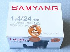 Samyang 24mm F/1.4 ED AS IF UMC  Four Thirds 4/3 SLR Lens Wide Olympus Panasonic