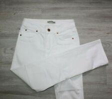 ACNE, Luxus Jeans im Skinny Look, LOGOKNOPF, Gr. 34, WEISS, WIE NEU