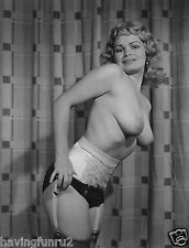 1960s Busty Pinup posing in black panties and stockings 8 x 10 Photograph