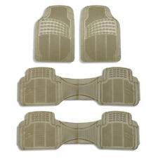 3 row Floor Mats For AUTO SUV TRUCK MINIVAN Tactial Fit Heavy Duty Beige