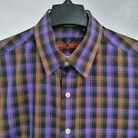 ROBERT GRAHAM X Men's Medium Shirt Long Sleeve Button Down Flip Cuffs Purple