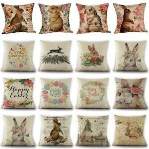 Osterhase Kaninchen Kissenbezug Leinen Sofa Kissenbezug Kissenbezug Home Dekor