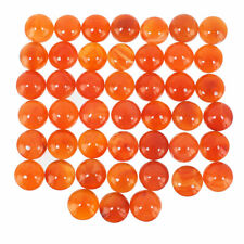 45 Pcs Natural Carnelian 11mm Round Finest Orange Top Quality Cabochon Gemstones