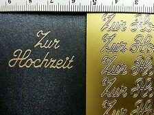 Stickerbogen, Zur Hochzeit, Gold Nr. 403