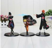 Naruto anime red figure figures set of 3pcs collection toys doll dolls new
