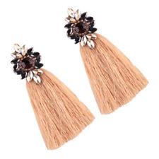 New Rhinestone Long Tassel Dangle Earrings Women Ladies Girls Boho Fringe Drop
