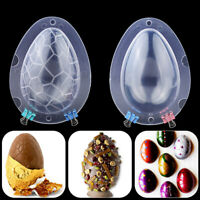 Plastic 3D Easter Egg Shape Mold Chocolate Candy Mould Fondant Cake Mold