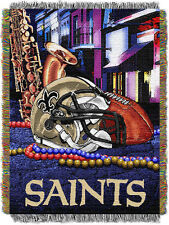 New Orleans Saints Home Field Advantage Woven Tapestry Throw