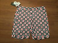 LOUD MOUTH LEGRAND MENS GOLF SHORTS SIZE 38 X 10 BLACK WHITE RED NEW