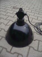 Alte DDR Email Lampe Industrielampe Lbl Tgl52 Bauhaus Werkstatt Fabriklampe Loft