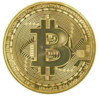 Gold Plated Bitcoin Coin Collectible Gift Coin Art Collection Physical P&T