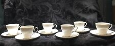 Rosenthal Romance All White Set of 6 Cups and Saucers