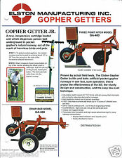 Farm Equipment Brochure - Elston - Gopher Getter Jr GA-400 500 Bait (F4071)