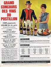 PUBLICITE ADVERTISING 084  1965  LES VINS DU POSTILLON  grand concours