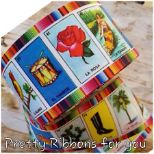 """WHOLESALE La Loteria 3""""  grosgrain ribbon the listing is for 50 yards ROLL"""