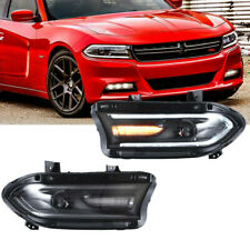 Led Headlights High&Low Beam Headlight Assembly Fit For Dodge Charger 2015-2019