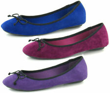 Spot On Casual Ballerinas Faux Suede Upper Shoes for Women