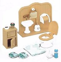 New Epoch Sylvanian Families furniture toilet set Doll Accessory free Postage