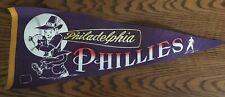 RARE Vintage Philadelphia Phillies 12x29 Vintage Pennant MLB Baseball Flag