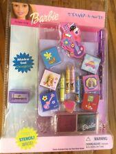 Barbie Stamp-A-Note, Scrapbooking, Craft Set, 2002 Mattel