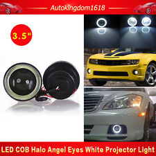 """3.5"""" 20W Projector Led Fog Angel Eyes White Front Light Halo Ring High Power(Fits: Neon)"""