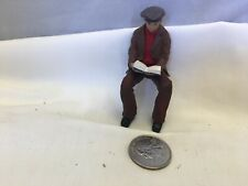 Dollhouse miniatures 1:20 or G scale resin man sitting