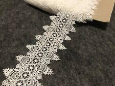 7cm White Retro Venise Lace Trim Sewing Dress Embellishment Wedding Per Meter