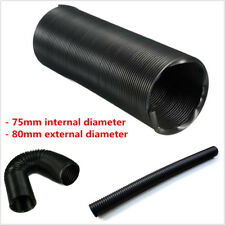 "3.1"" 80mm Adjustable Flexible Cold Air Intake Ducting Feed Pipe Inlet Hose Tube"