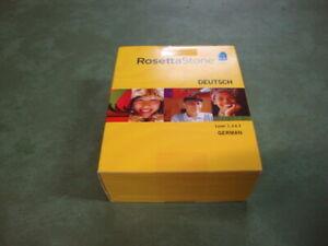 Software PC Rosetta Stone Deutsch German Level 1 & 2&3 Version 3 Home Sealed Box