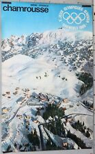 AFFICHE ANCIENNE Xemes JEUX OLYMPIQUE D'HIVER GRENOBLE 1968 CHAMROUSSE
