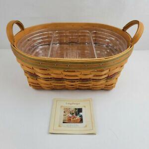 Vintage Longaberger 2001 Autumn Reflection Large Daily Blessings Basket 2 Liners