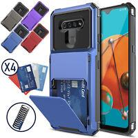 For LG K51 Phone Case Shockproof Hard Cover With Card Pocket Wallet Holder Slot