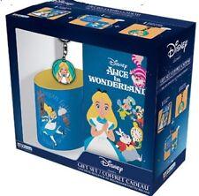 Disney Alice in Wonderland Gift Set, Mug, Notebook & Keyring