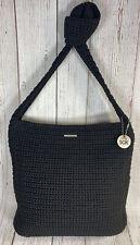 The Sak black crochet single strap