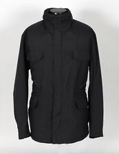 LORO PIANA MICRO-FIBER / CASHMERE LINED Coat Jacket - Black - 52 - M / L
