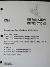 New Holland Operator's Manual for Snowblower Front Package 87300342 October 2003
