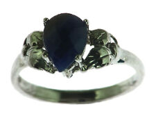 BLUE SAPPHIRE CEYLON IN A STERLING SILVER RING, SIZE (CUSTOMIZABLE)RSS1000
